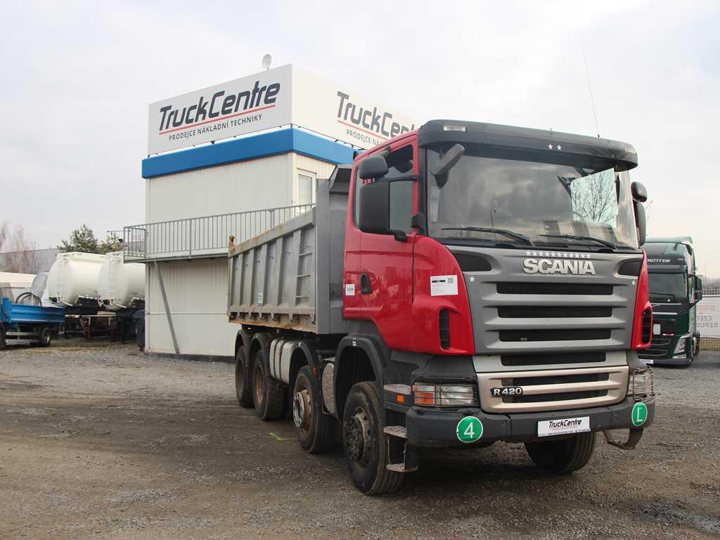 Scania R 420  POHON 8x6 NÁKLADNÍ AUTOMOBIL SKLÁPĚC MANUAL