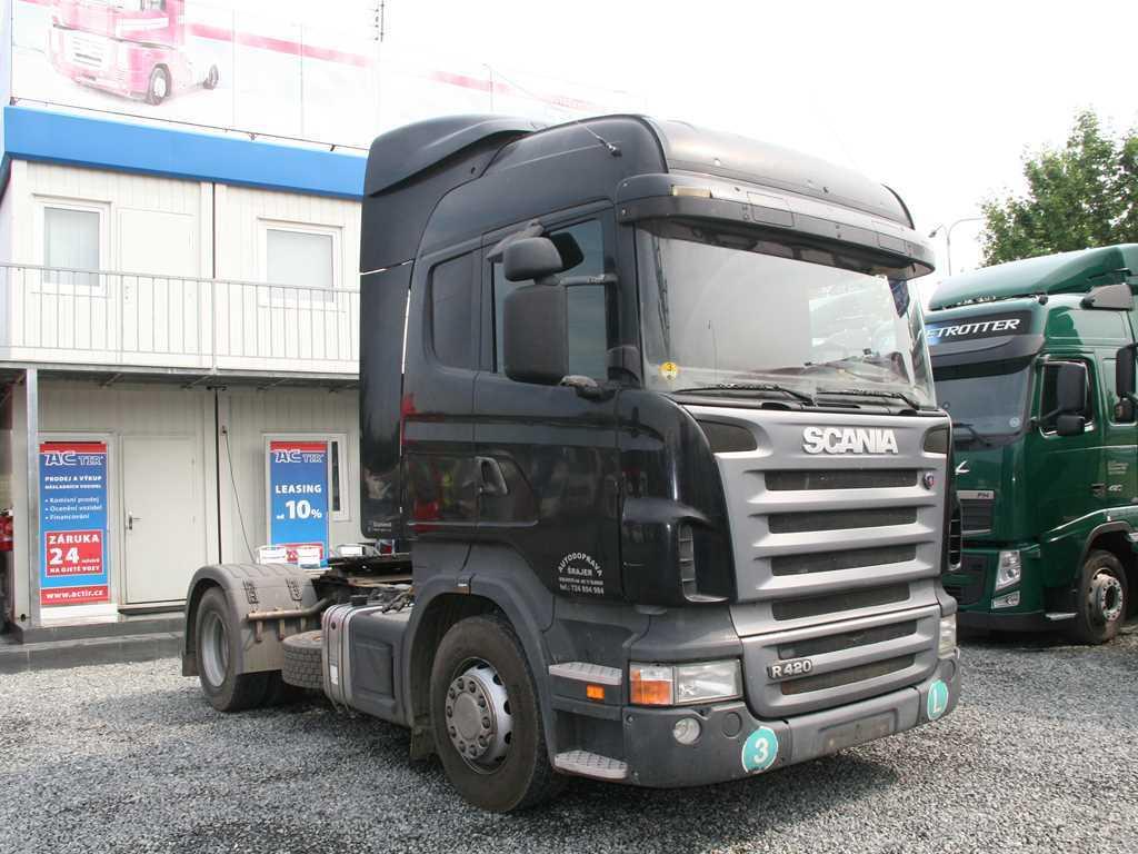 Scania R 420 LA 4x2 TAHAČ NÁVĚSŮ ,
