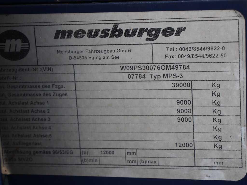 Meusburger MPS - 3 VALNÍK S PLACHTOU